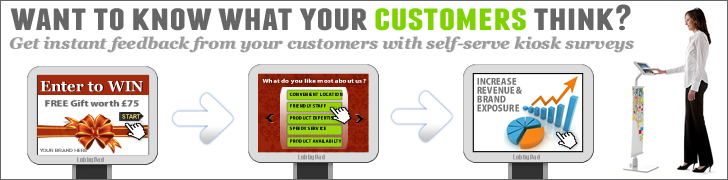 Customer Survey and Email Marketing Kiosks